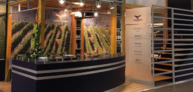 Stand espositivo Campagnola per la 51° edizione del Vinitaly